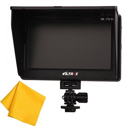 Andoer VILTROX DC-70 Clip-on LCD TFT-Monitor 7  HDMI AV-Eingang für DSLR-Kamera Camcorder