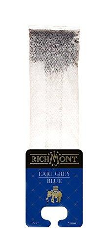 RICHMONT EARL GREY BLUE 50 Stk. Premium Selected Tee in Beuteltee. Teebeutel mit einzigartiger Aufhängung für Teekanne oder Teetasse