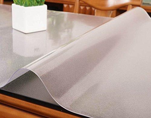 JCRNJSB® Toile de table, pleine taille Plus épais 1.5mm PVC Vitre douce Imperméable Anti-chaud Lavage Transparent Table basse Table à base de cristal Table à manger Lavable et facile à entretenir ( Couleur : #2 , taille : 60x120cm )
