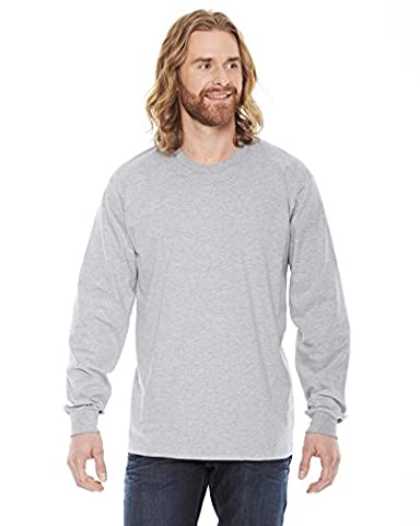 American Apparel Fine Jersey Long Sleeve T-Shirt - Heather Grey / M (US)