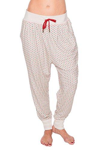 PiP - Bas de pyjama - À Pois - Femme * Blanc