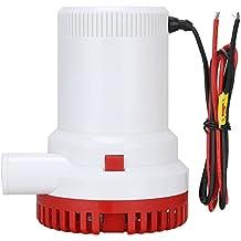 Nuzamas - Bomba eléctrica sumergible para agua de cloaca, 12 V, caudal de 7566 litros/hora, diámetro de salida: 29 mm, para caravana, acampada, barco pequeño de pesca marítima, piscina y fuentes