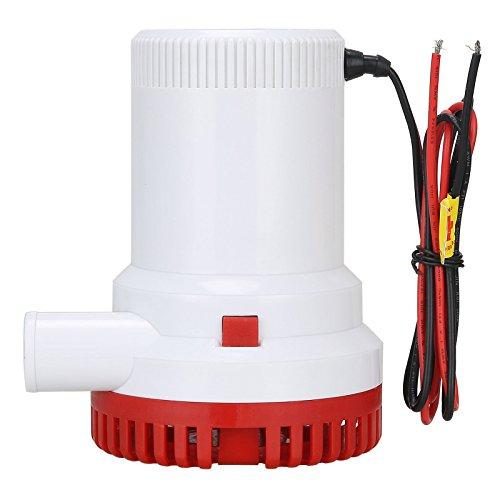 Nuzamas Automatische Bilgepumpe, tauchfähig, 12 V, 2000GPH, 29mm, Elektropumpe für Wohnmobil, Camping, Boote, kleine Schwimmbecken und Brunnen