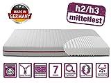 BMM Matratze Klassik 19 - orthopädische 7-Zonen Kaltschaummatratze 80x200 cm, H2 / H3 mittel-fest, Bezug V2 Premium Doppeltuch, Höhe 19cm