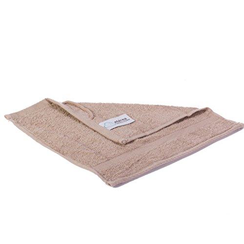 etérea Carli Seiftuch Waschtuch 30x30 cm Taupe|Qualitäts Frottierware 500 g/m² 100% Baumwolle|7+1 Größen viele Sparsets