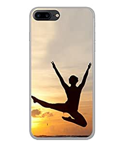 PrintVisa Designer Back Case Cover for Apple iPhone 7 Plus (Beautiful Evening Picture Poster Water Beach Yoga )