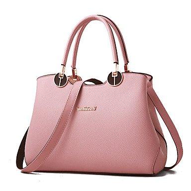 Damenmode Casual PU Leder Messenger Umhängetaschen Handtaschen/Klt Blushing Pink