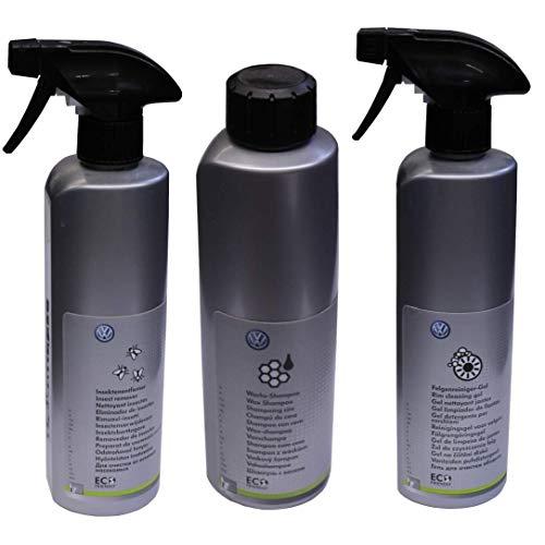 Original VW Pflege-Set Felgenreiniger, Wachs-Shampoo & Insektenentferner