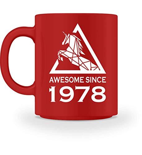 PlimPlom 1978 Geburtsjahr Kaffeetasse Einhorn Tasse Für Kaffee Tee Kakao - Geburtstag Geschenk Idee...