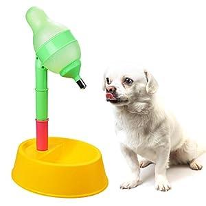 ANICHY Distributeur de nourriture et d'eau réglable en hauteur pour chat et chien