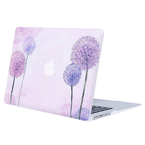 MOSISO Hülle Kompatibel MacBook Air 13 - Ultra Slim Plastik Matt Hartschale Shell Case mit Muster Kompatibel MacBook Air 13 Zoll (A1369 / A1466, 2010-2017 Version), Ultra Violet Löwenzahn (13 Fall Air A1466 Macbook)
