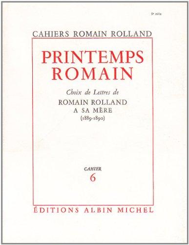 Printemps Romain : choix de lettres à sa mère