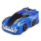JIAAE Mur Télécommande Escalade De Voiture Mini Dual-Mode Stunt Car Drift Grands Cadeaux Garçons Filles,Blue