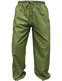 d04e3b3d3198 Amazon.it: Pantaloni Lino Uomo - Pantaloni sportivi / Abbigliamento  sportivo: Abbigliamento