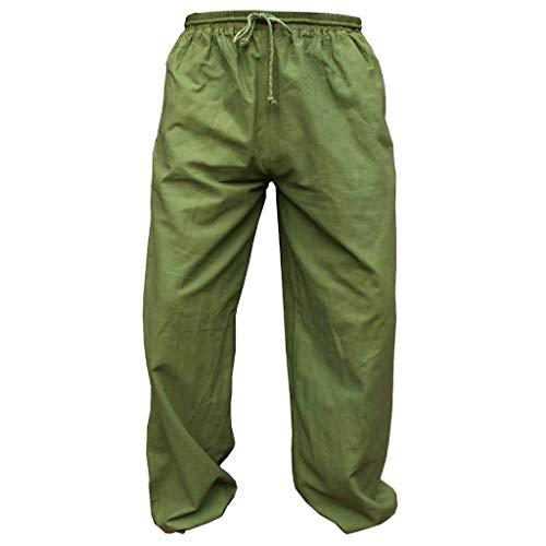 PANASIAM E'Pants Long, Cotton, Olivegreen, L