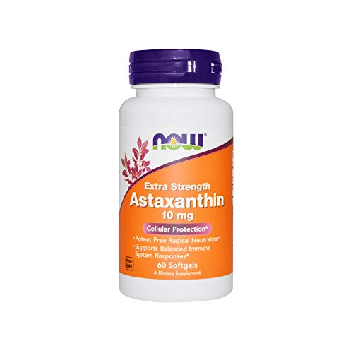 Now Foods Extra Strength Astaxanthin Softgels, 10mg , 60 Count