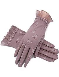 d3864fd5ea645f zhaoaiqin Driving Sun Protection Handschuhe, Damen dünne Abschnitt Frühling  und Herbst Stretch Baumwolle, Radfahren Sonnenschirm…