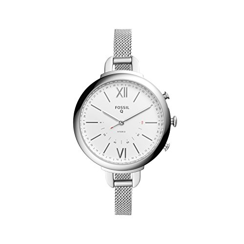 Fossil Q Annette Women's Hybrid Smartwatch - Stainless Steel Case with Mesh Strap - Compatible Android and iOS
