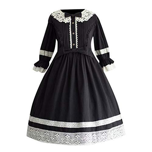 Kleid Jasmin Kostüm Hochzeit Prinzessin - Solike Damen Viktorianisches Rokoko-Kleid, Mittelalter Kleid Lolita Gothic Kleider Kostüm Prinzessin Halloween Weihnachten Party Cosplay Dress