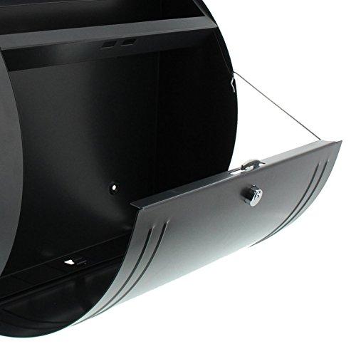BURG-WÄCHTER, Briefkasten mit Öffnungsstopp, A4 Einwurf-Format, Verzinkter Stahl, Modena 857 ANT, Anthrazit - 4