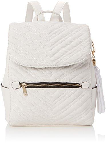 Miss Selfridge Damen Quilt Rucksackhandtasche, Weiß (White), 6x36x26 cm
