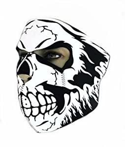 """Cagoule Masque Protection Neoprene """"Electric Skull"""" - Taille unique réglable - Airsoft - Paintball - Outdoor - Ski - Snow - Surf - Moto - Biker - Quad"""