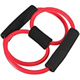 [Sponsored]Total Body Finess Stretch Body Toning And Stretching Travel Exercise Tube 8 Type Resistance Band Exercise Tube Yoga Pull Up Equipment Yoga Fitness For Men And Women - Multi-coloured