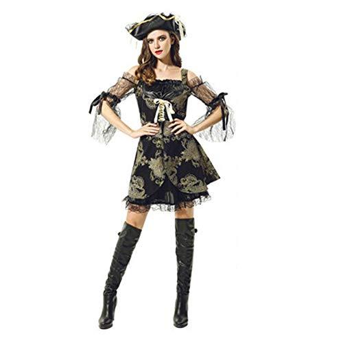 Piraten Holloween Kostüm - Tik Halloween Kostüm/Geburtstagsparty Cosplay Outfit - Gruseliges Piraten Halloween Kostüm für Herren,1