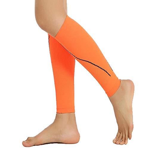 Manicotto a compressione per vitello (1 paio) - calze a compressione per gamba per stinco, sollievo dal dolore al polpaccio - uomini, donne e corridori - polpaccio per corsa, ciclismo, maternità, viag