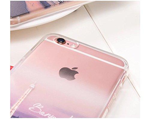 Vandot iPhone 6 Plus Motif Cas iPhone 6S Plus TPU Silicone Shell Housse Coque Etui Case Cover Résistant aux rayures Anti-dérapant Soft Gel Flexible TPU universelle Shell FJSP-11