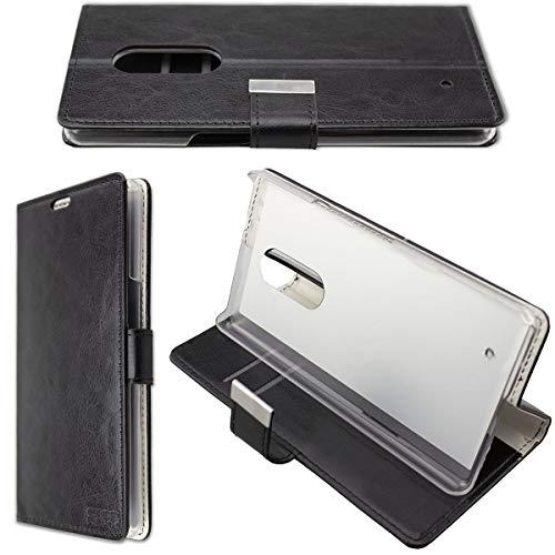 caseroxx Hülle/Tasche HP Elite X3 Handy-Tasche, Wallet-Case Klapptasche in schwarz