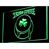 ADV PRO i949-g Irish Coffee Cup Shop Shamrock Neon Light Sign