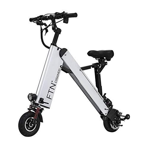 MKSport 8 Zoll Elektrofahrrad für Erwachsene 36V 7.5AH 350W E-Bike mit 20-35KM Haltbarkeit und Höchstgeschwindigkeit 20km / h,Silber,25/30KM