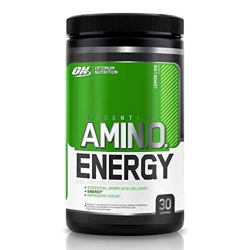 Optimum Nutrition Amino Energy Energy Booster / Pre Workout Pulver (mit Beta Alanin, natürliches Koffein, Aminosäuren und Vitamin C von ON) Lemon Lime, 30 Portionen, 270g