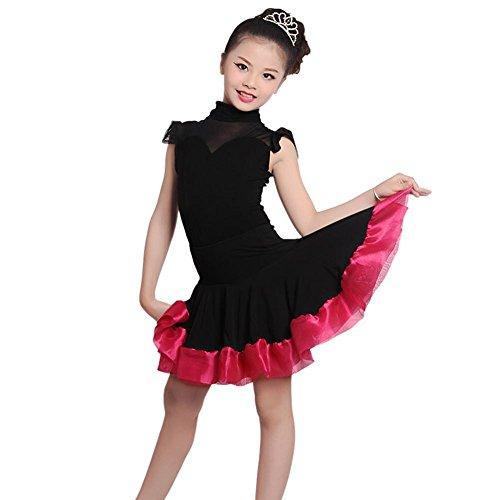 GBDSD Lateinische Mädchen Röcke Kleider Kinder moderner Tanz Samba Mesh Latin Dance Rock Anzüge für Erwachsene , 3xl