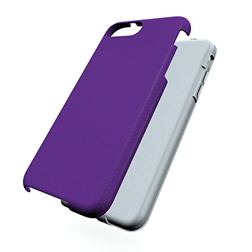 iPhone Se Coque,EVERGREENBUYING Ultra Slim léger 2 en 1 IPHONE 5 / IP5 Cases Housse Etui de protection Anti-dérapant hybride Cover pour iPhone Se / 5 / 5S Rose Violet