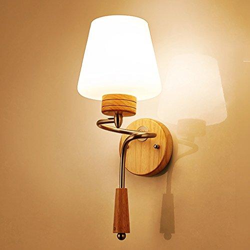 HOHE SHOP/Salon en bois massif salon balcon escalier lampe de chevet mur d'allée seule tête