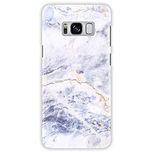 TheSmartGuard Hülle kompatibel für Samsung Galaxy S8 Hülle Marmor Marble Weiß Blau Gelb Hard-Case Schutzhülle aus Kunststoff Cover Gelb Hard Case