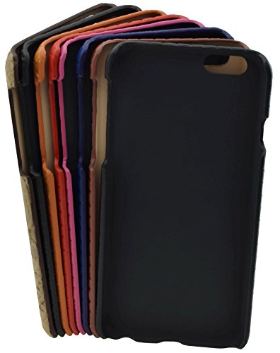 iPhone 6s - Original SunCase ® (Backcover) Tasche Schutzhülle Hard Case aus echtem Leder (geflochtenem Look) in rot Rot
