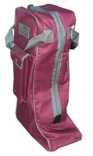 Amesbichler Stiefeltasche weinrot (Fuchsia)| Reitstiefeltasche | Tasche für Reitstiefel | Stiefelbeutel Equitheme (Reitsport-reiten-ausrüstung)