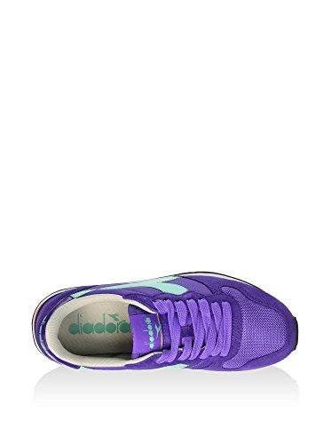 Diadora Camaro, Scarpe Low-Top Unisex – Adulto Viola/Verde