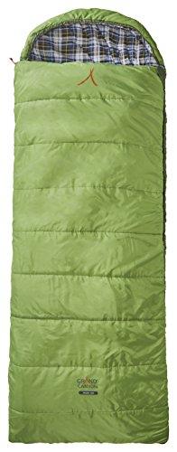 Grand Canyon Valdez - XL Deckenschlafsack, besonders weich und angenehm durch Baumwoll-Flanel im Innenbezug, 3-Jahreszeiten, Extrem: - 20°, für Camping, Outdoor, Festival, grün, 301002