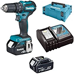 Makita Perceuse Visseuse à percussion Brushless 18 V 5 Ah DHP483RTJ