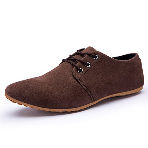 Paris Hill Herren Casual Suede Loafers Flat Lace up Oxfords Schuhe EU43