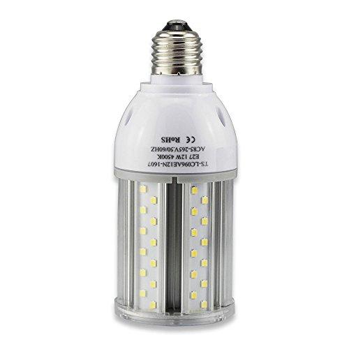 Tongsung LED-Lampen, 12W Natürlich Weiß (4500K) Mit breitem Eingangsspannung AC85V-265V, Super Bright Light Output(1280LM), Mit Aluminiumlegierung Bau und Staubschutz (Schutzstufe :...