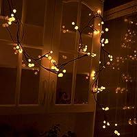 Winhot Guirlande Lumières, 72 LEDs, 8.2ft,guirlande lumineuse,guirlande led,En Forme de vigne Ampoules Décoration Pour Intérieur et Extérieur,Mariage, Anniversaire Soirée Party,Guirlande lumineuse