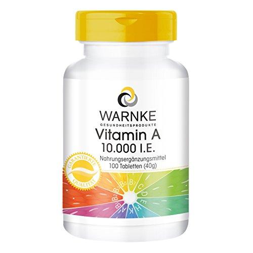 Warnke Gesundheitsprodukte Vitamin A 10.000 I.E, 100 Tabletten vegi