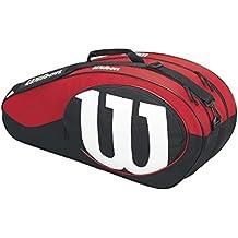 Wilson Match II Bolsa de Tenis, Unisex adulto, Negro / Rojo, Única