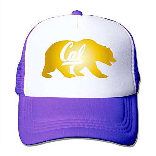 jiilwkie UC Berkeley Cal Golden Bears Mesh Trucker Caps/Hats Adjustable for Unisex Black Uc Berkeley Basketball