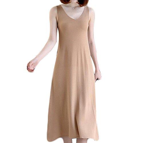 Schwangere Frauen kleiden sleeveless Westekleid langen Abschnitt des Eises silk Strapsen Basis Rock Khaki
